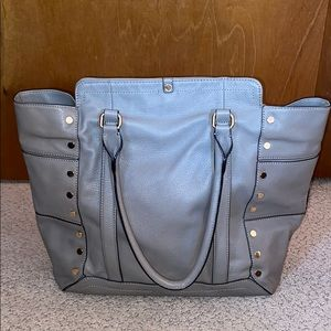 Kelsi Dagger Taupe Leather Tote